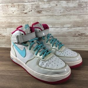 Nike Air Force 1 Mid Pure Platinum / Blue Sneaker
